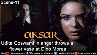 Udita Goswami throws a Flower Vase at Dino Morea (Aksar)