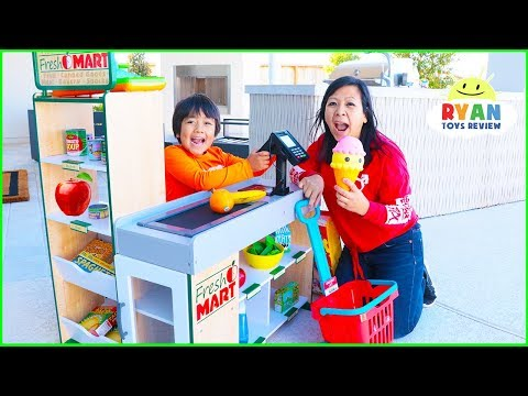 Ryan Pretend Play Grocery Store Shopping Super Market Toys