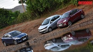 Maruti Suzuki Dzire vs Hyundai Xcent vs Tata Tigor - Diesel Comparative Review