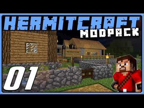Minecraft 1.10 Modded HermitPack Episode 1 Dude Where s My Chicken