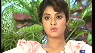 Divya Bharti Interview on the sets of Geet