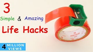 3 SIMPLE LIFE HACKS With Sharpener You should Know