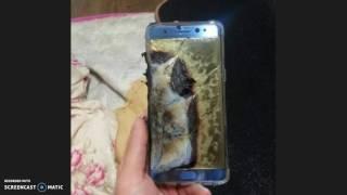 انفجار سامسونج نوت 7  Samsung Note 7 explosion