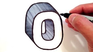 How to Draw the Letter O in 3D