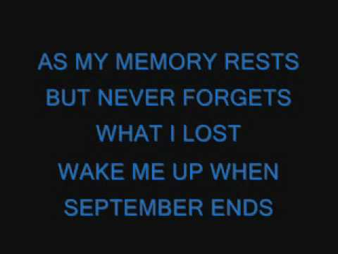 Green Day-Wake Me Up When September Ends lyrics Video Clip