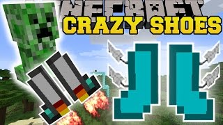 Minecraft: CRAZY SHOES (FLYING SHOES, GLIDING SHOES, JUMPING SHOES, & MORE!) Mod Showcase