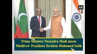 Prime Minister Narendra Modi meets Maldives