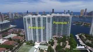 RealEstateSkyCam - 4K Aerial video of Peninsula 1 & 2, Aventura, FL