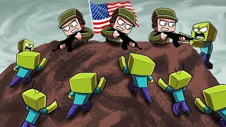 Minecraft | ZOMBIE ARMY VS US Marines! (Massive Mob Battles)
