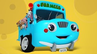 Wheels On The Bus | Nursery Rhymes For Kids | Songs For Baby And Childrens by Farmees S01E36