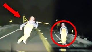 Top 15 SCARIEST Clown Videos Caught on Camera! (Creepy Killer Clown Sightings)