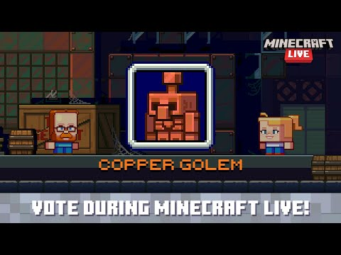 Minecraft Live 2021 Vote for the copper golem