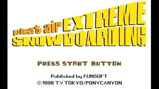 """[Ps1] Introduction du jeu """"Phat Air: Extreme Snowboarding"""" de l'editeur Funsoft (1998)"""