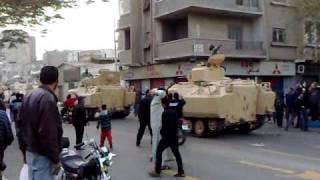 لحظة تحرك الجيش المصرى الى مقر أمن الدولة بالإسماعيلية