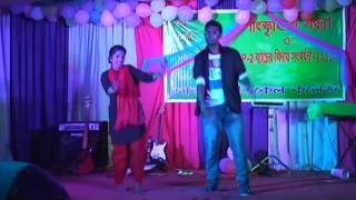 kring kring baje re moner calling bell  dance performed by Adi & MouliP3  Farewell P1