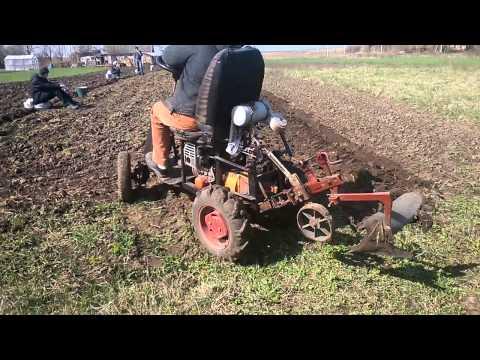Как сделать трактор из двигателя мотоблока