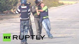 Israeli police run over Palestinian protester, manhandle reporter in Ramallah