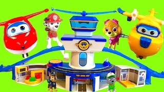 SUPER WINGS World Airport Playset Helps Paw Patrol Fly to Toy Surprise Island - Stop Motion!