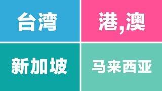 大陆人最喜欢台湾, 香港, 澳门, 马来西亚还是新加坡?