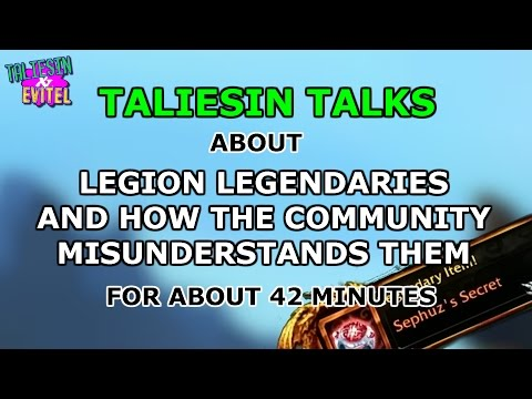 Taliesin Talks Legion Legendaries And How The Community Misunderstands Them For About 42 Minutes