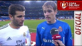 Entrevista a Álex y Nacho Fernández tras el Real Madrid (1-0)RCD Espanyol - HD Copa del Rey