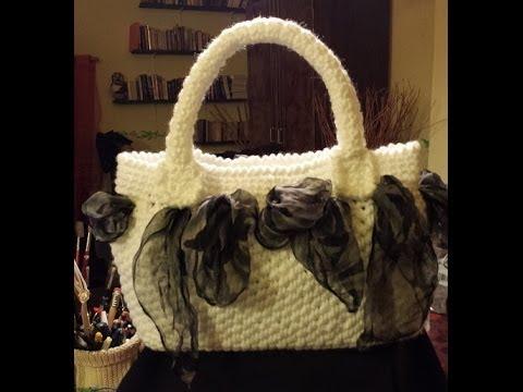 Borsa all uncinetto foulard e punto paniere Tutorial borsa uncinetto