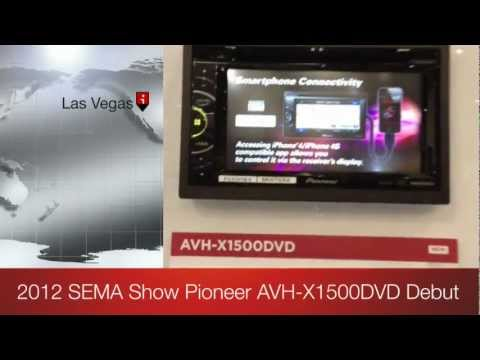 2012 SEMA Pioneer AVH-1500DVD AV Double Din 2013 Model DEBUT!