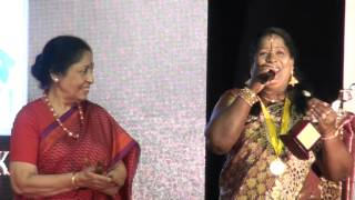 Singer Chinna Ponnu Live Performance Marikolunthu Song at Raindrops women's day award function