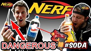 MOST DANGEROUS NERF MOD EVER! (EXPLODING PEPSI)