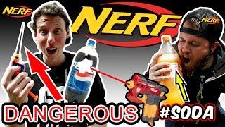 MOST DANGEROUS NERF MOD EVER! (EXPLODING PEPSI)