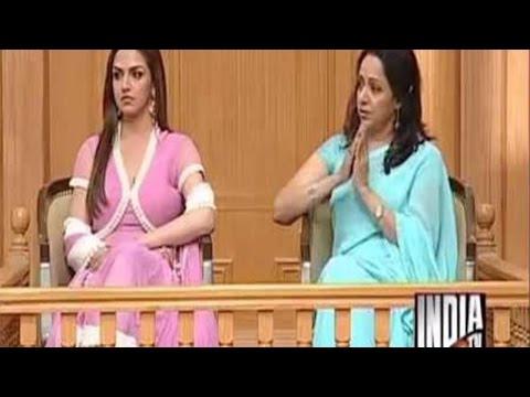 Hema Malini with Esha Deol in Aap Ki Adalat (Part 2) - India TV