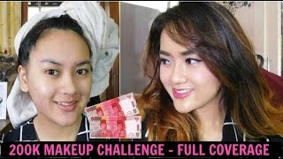 200K MAKEUP CHALLENGE ALA RATU - ACNE FULL COVERAGE | Tutorial Make up Cover Jerawat (Indonesia)