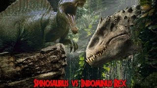 Spinosaurus vs Indominus Rex (Biggest Fight Of Dino History ?)