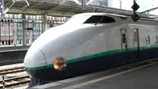 【JR東】上越新幹線 200系 とき381号 高崎発車 発車案内付