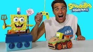 Spongebob Squarepants Remote Control Krabby Patty ! || Toy Review || Konas2002