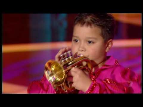 Little Bobby Harrison Trumpet Player