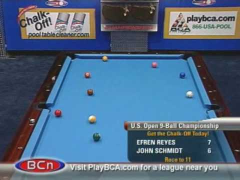 Billiards US Open 9 Ball Championship Efren Reyes v Schmidt