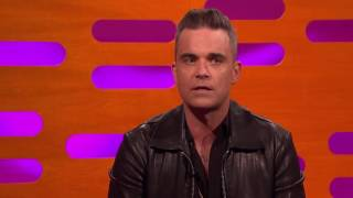 Robbie Williams tells hand job story with JustinTimberlake, Daniel Radcliffe, Anna Kendrick.