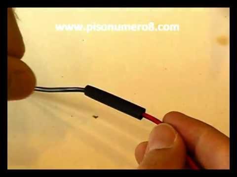 Cómo soldar un cable con estaño