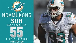 #55 Ndamukong Suh (DT, Dolphins) | Top 100 Players of 2017 | NFL