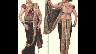 Easy Readymade Lavani saree cutting stitching with English subtitles