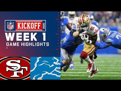 49ers vs. Lions Week 1 Highlights NFL 2021