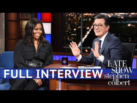 Full Interview Michelle Obama Talks To Stephen Colbert