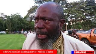Cde Chinotimba on the resignation of President Mugabe