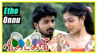 Vikadakavi Tamil movie | scenes | Edho Onnu song | Sathish falls for Amala Paul