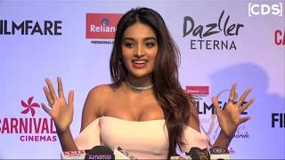 Nidhi Agarwal In Body-Hugging Dress At Filmfare Glamour and Style Awards 2017