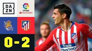 Doppelter Alvaro Morata in 3 Minuten: Real Sociedad - Atletico Madrid 0:2 |La Liga| DAZN Highlights