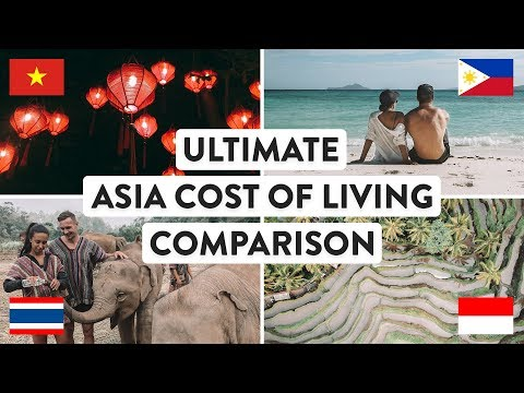 SOUTH EAST ASIA COST OF LIVING Thailand Vietnam Indonesia & Philippines Travel Digital Nomad