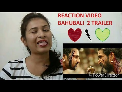 Bahubali 2 the conclusion trailer reaction video by cute desi indian girl Mann sanam