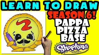 How To Draw Shopkins SEASON 6: Pappa Pizza Base, Step By Step Season 6 Shopkins Drawing Shopkins